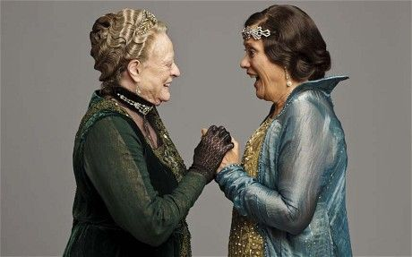Dame Maggie Smith as the Dowager Countess and Dame Kiri Te Kanawa as Nellie Melba, Downton Abbey