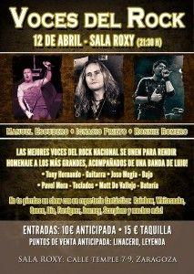 Voces del Rock: Sala Roxy (Zaragoza) 12/04/2014