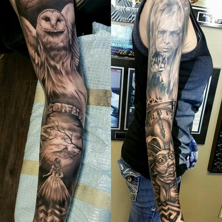 amazing labyrinth sleeve so jelly tattoos pinterest sleeve tattoos and body art and. Black Bedroom Furniture Sets. Home Design Ideas