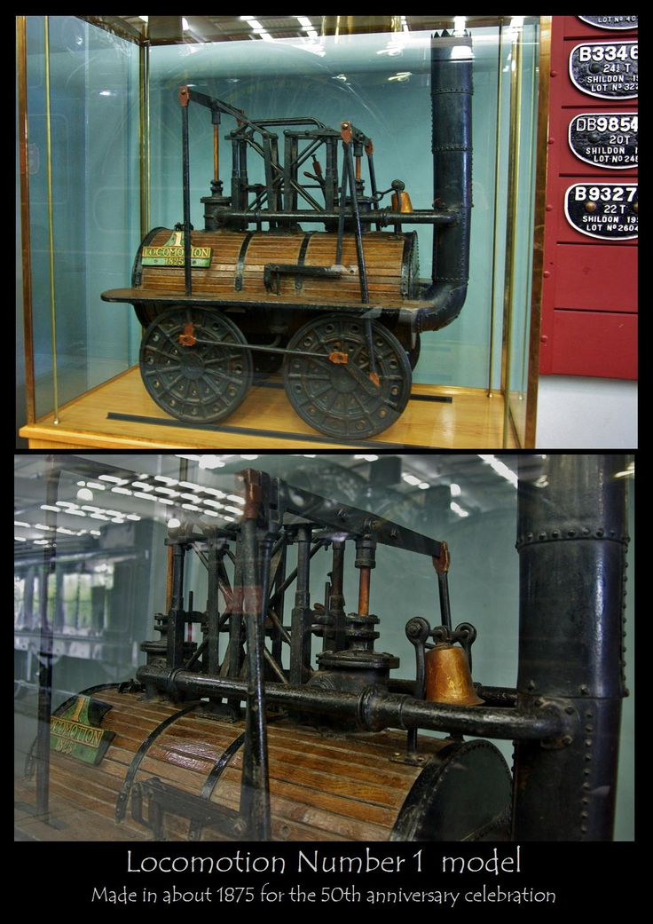This is one of my favourite things in the whole world!! lol It's a 15 inch working steam model of the Loco 1 probably built in 1875 for the 50th annivrsary of the opening...but nobody really knows much else about it. If I could steal one thing from the Shildon Railways Museum...this would be it ;)