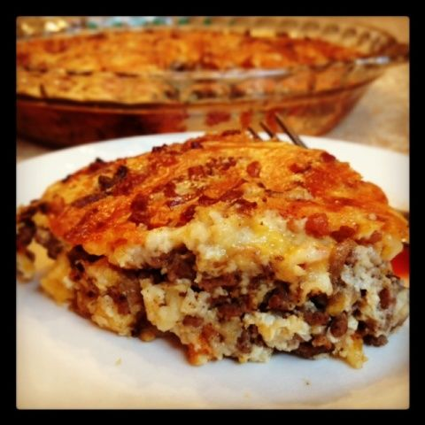 Impossible Cheeseburger Pie #SundaySupper #BakeForACure - In The Kitchen With KP