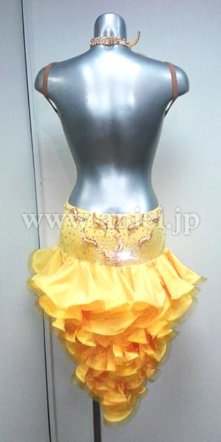 Социальный танец платье фитнес модель / L2921・желтый・7 миллионов иен * сторона недоступна
