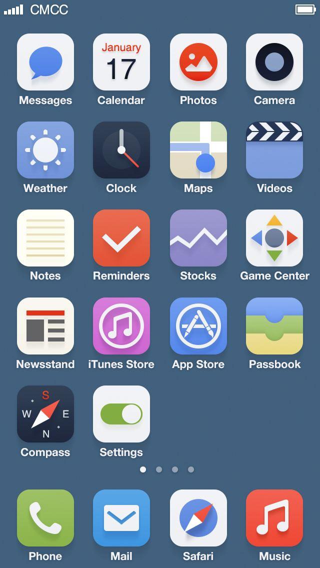iOS 7 Redesign by Johnny #apple #ios #ios7 #iosbeta #iphone #ipad #ipod #appletv #jailbreak #iosjailbreak #jailbreakios