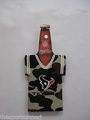 Houston Texans Camouflage Neoprene Bottle Jersey Holder Visit us for more: www.thesportszoneri.com