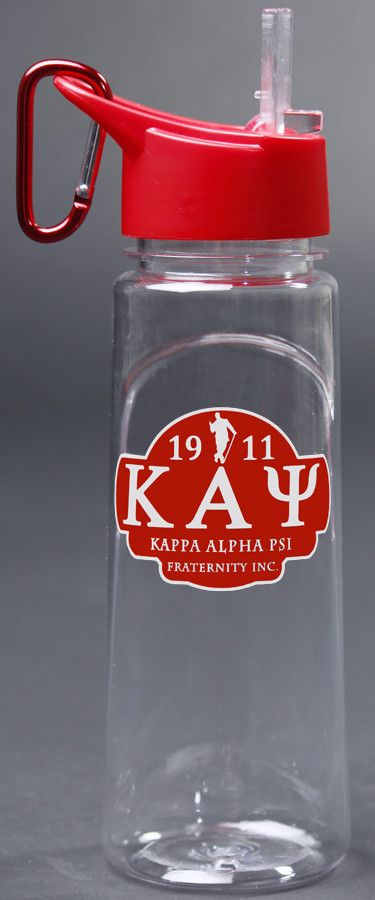 Clear Kappa Alpha Psi Greek Water Bottle
