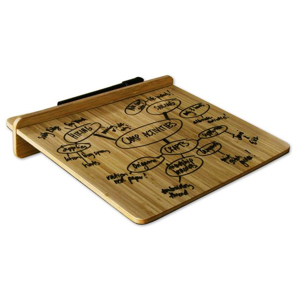 Dry Erase Desktop Tablet Bamboo - I like this a lot better than the dry erase board I have stuck to my fridge. This is almost like part of the decor.