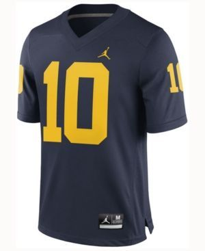 Nike Men's Tom Brady Michigan Wolverines Player Game Jersey - Blue XL