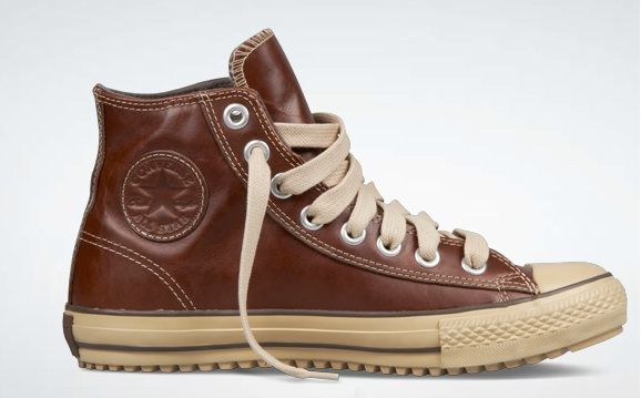 Brown Leather Converse. I'm usually not a big converse fan but...idk?