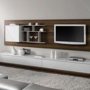 Meuble suspendu noyer et blanc achat vente meubles for Vente meuble salon