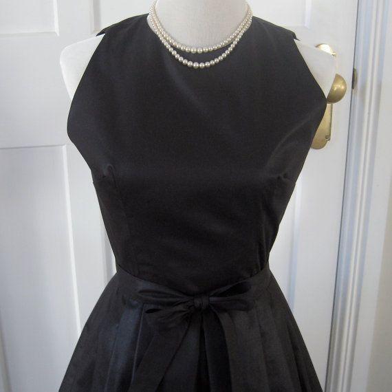 Black Beauty  Chintz  CUSTOM MADE Vintage by TheFrockCloset