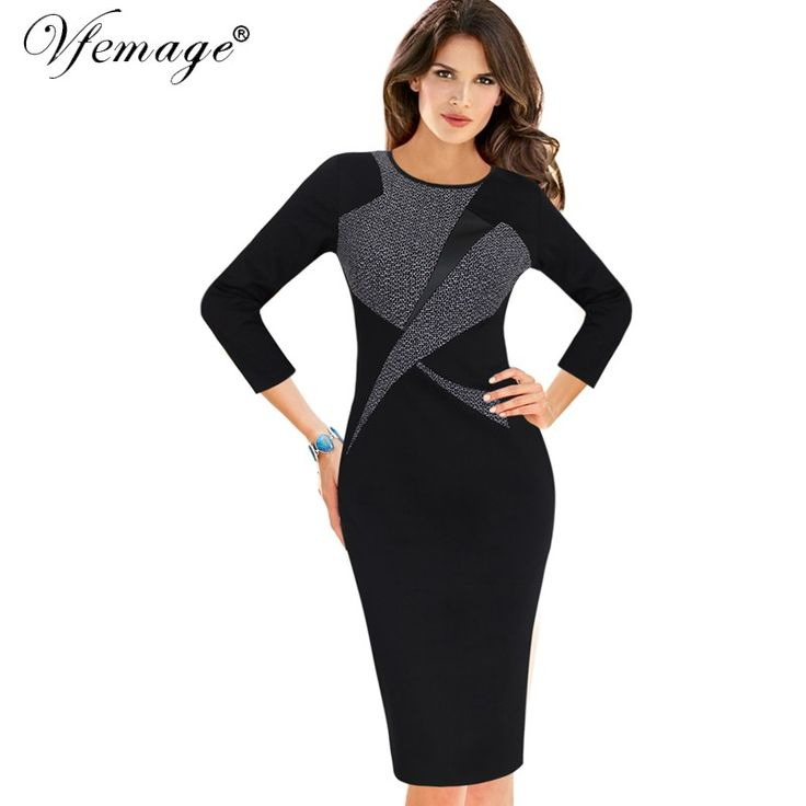 Like and Share if you want this  Vfemage Womens Autumn Winter Vintage 3/4 Sleeve Color-Blocked Contrast Patchwork Work Business Party Bodycon Pencil Dress 18325     Tag a friend who would love this!     FREE Shipping Worldwide     Buy one here---> https://onesourcetrendz.com/shop/all-categories/womens-clothing/womens-dressers/vfemage-womens-autumn-winter-vintage-3-4-sleeve-color-blocked-contrast-patchwork-work-business-party-bodycon-pencil-dress-18325/