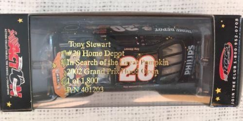 Action Tony Stewart #20 Home Depot In Search of the Great Pumpkin 2002 1:64 NIP