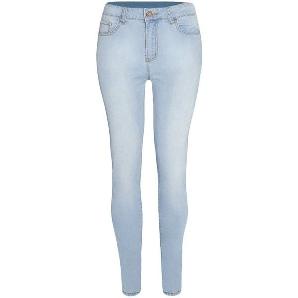 Guoji Women's Skinny Jeans Five Pocket Stretch Denim Pants ($18) ❤ liked on Polyvore featuring jeans, blue jeans, 5 pocket jeans, skinny jeans, stretch denim jeans and wide-leg jeans