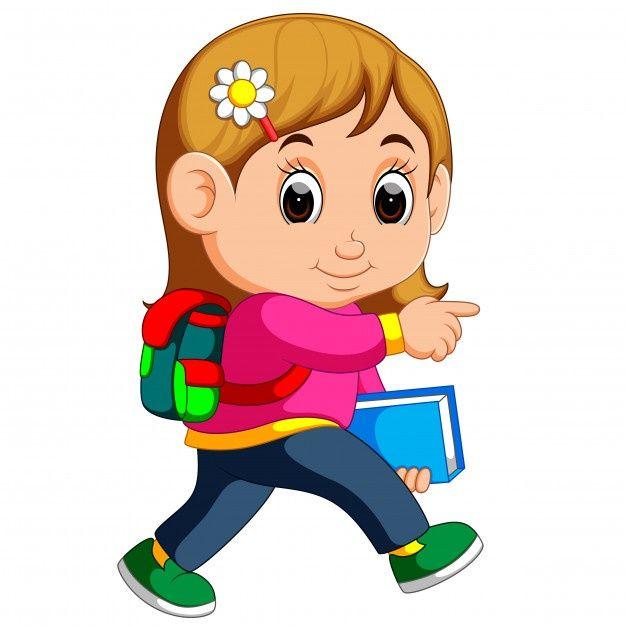 Dibujos Animados De Nina De La Escuela C Premium Vector Freepik Vector Escuela Libro Ma Ninos Dibujos Animados Dibujos Para Ninos Ninos En La Escuela