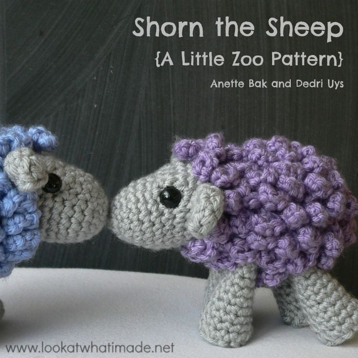 Shorn the Crochet Sheep - a Little Zoo Animal - Look At What I Made