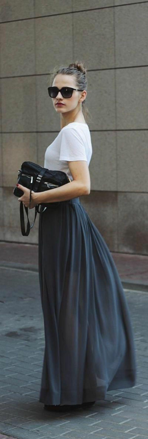 comment on peut avoir un air sportif avec une jupe longue