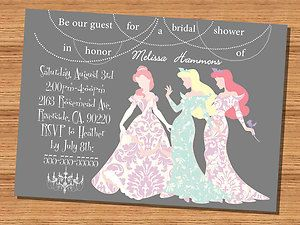 Princess bridal shower. @Mark Van Der Voort Miller Fennell Is it wrong that I think this is cute?