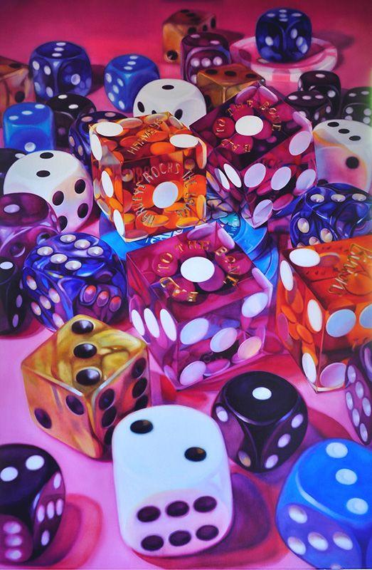 california-dice by Kate Brinkworth, oil on canvas