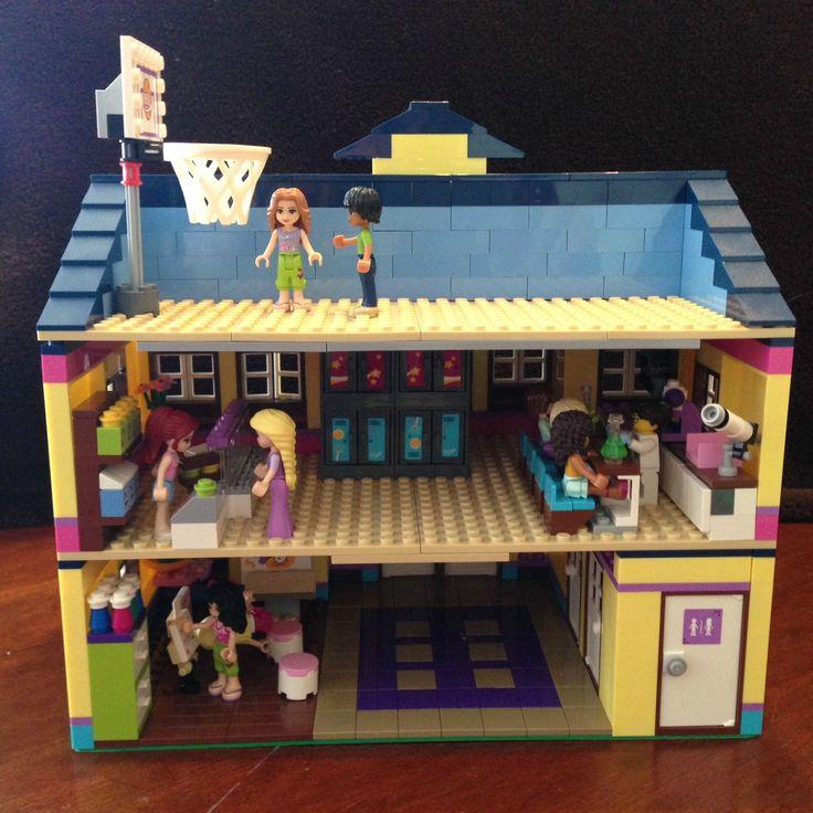 Modular lego friends high school imgur legos 4 my boys pinterest lego high schools and - Ecole lego friends ...