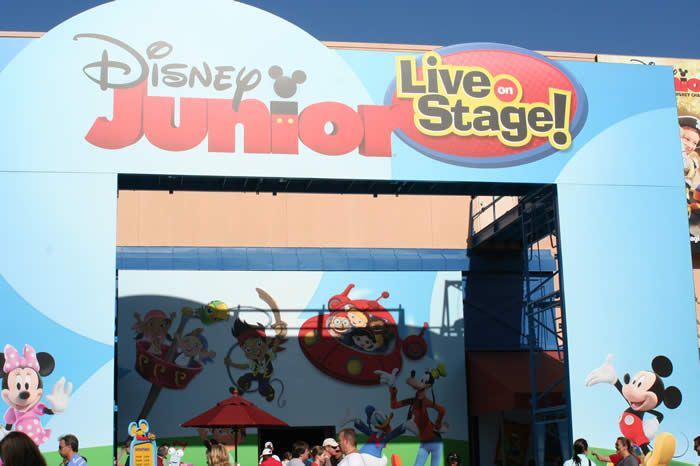 Playhouse Disney-Live on Stage! Disney Hollywood Studios  Features Mickey Mouse Clubhouse, Little Einsteins, and Jake!  Can't miss this!