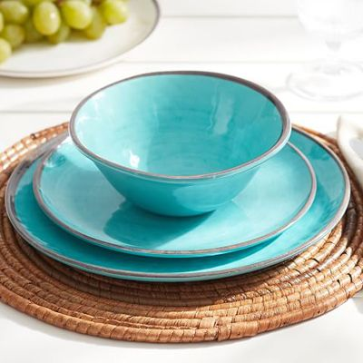 Turquoise Swirl Melamine Dinnerware & 164 best Teal turquoise aqua dinnerware images on Pinterest | Dishes ...