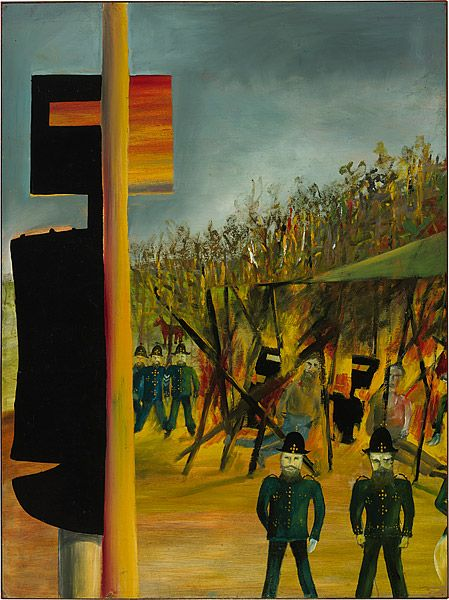 Sidney Nolan 1946-7 Ned Kelly Series - Burning at Glenrowan 1946