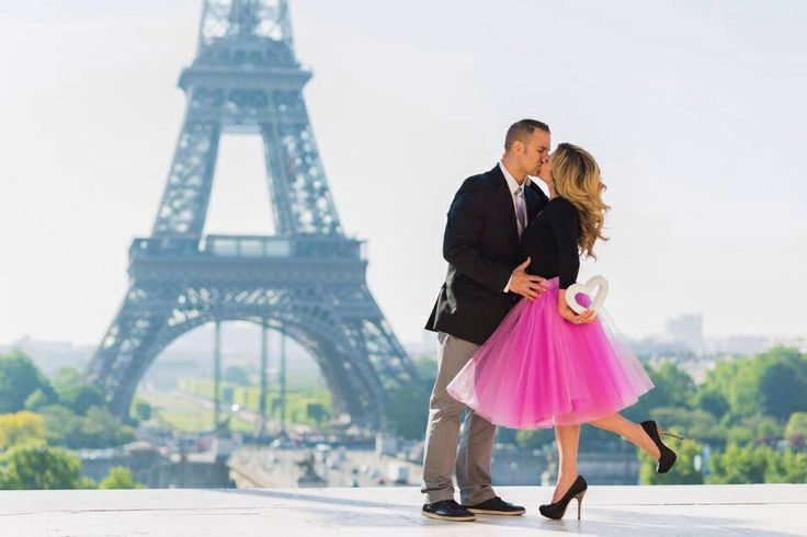 Paris Eiffel Tower engagement photoshoot , gorgeous shoot, candid moments, Pretty in pink  in the city of love, Space 46 tulle skirt