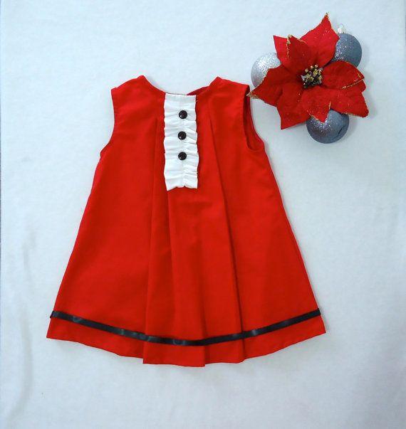 Black/White Baby Girl Dress - Baby Girl Christmas Outfit-Toddler Dress -Christmas outfit- Baby Dress 1M - 24M