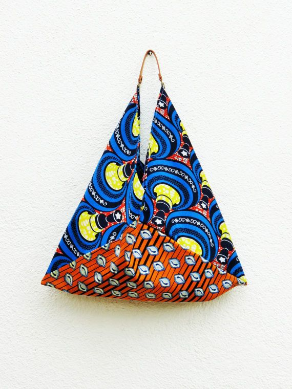 Stile africano pittoresco tote bag tessuto africano borsa