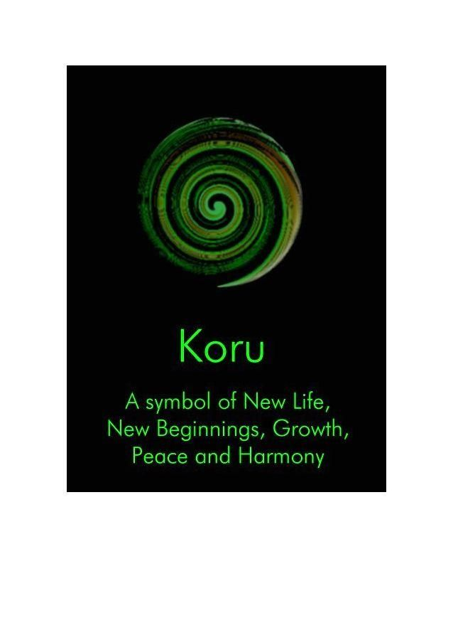 Koru - a symbol of Maori art mimicking the fiddlehead of ...