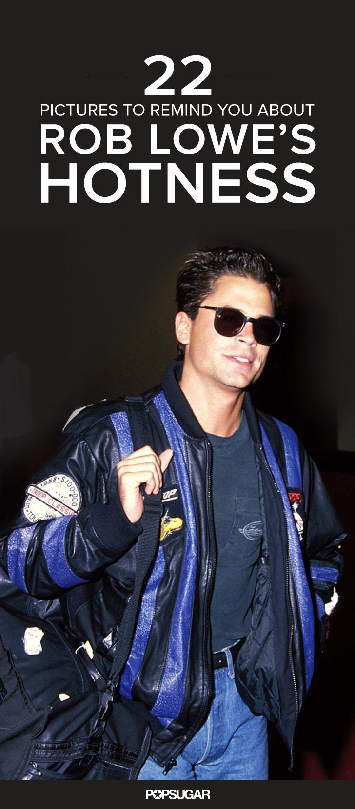 Rob Lowe has been a Hollywood heartthrob since the '80s, he's been married to his wife, Sheryl, for almost 25 years, and he has two grown children, but all that passing of time is downright confusing when you see his handsome face.