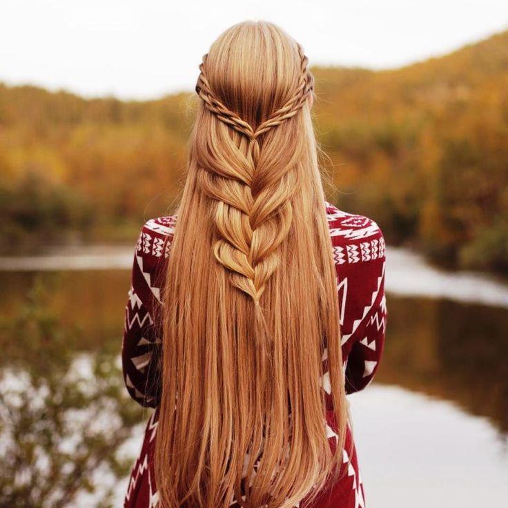 2019 Elegant Half Up Half Down Hairstyles for Summer Vocation