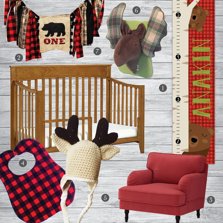 Nursery Ideas And Décor To Inspire You: Lumberjack Inspirational Nursery Set
