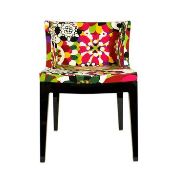 Kartell Mademoiselle chair by Philippe Starck. This would be amazingly fun in the right space! Wonderful colors, but Rosita Missoni selected the fabric...what would you expect?