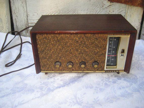 AM FM vintage tube radio, motorola radio, mid century retro radio
