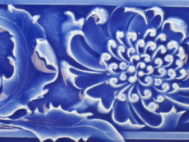 Detail of an Art Nouveau Frieze Tile