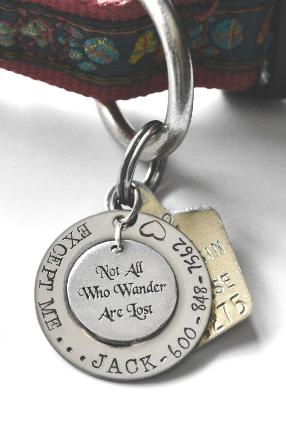 Hey, I found this really awesome Etsy listing at https://www.etsy.com/listing/158705743/not-all-who-wander-are-lost-pet-tag-not