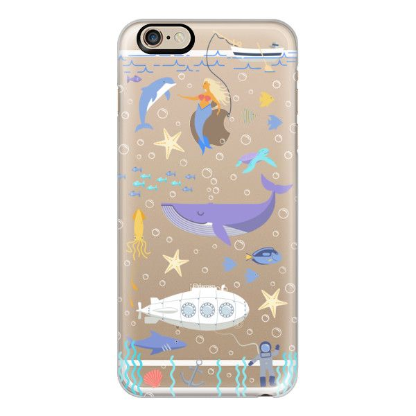 Under the sea, mermaid, whale and delphine underwater adventures. -... ($40) ❤ liked on Polyvore featuring accessories, tech accessories, iphone case, slim iphone case, apple iphone cases, iphone cover case and iphone cases