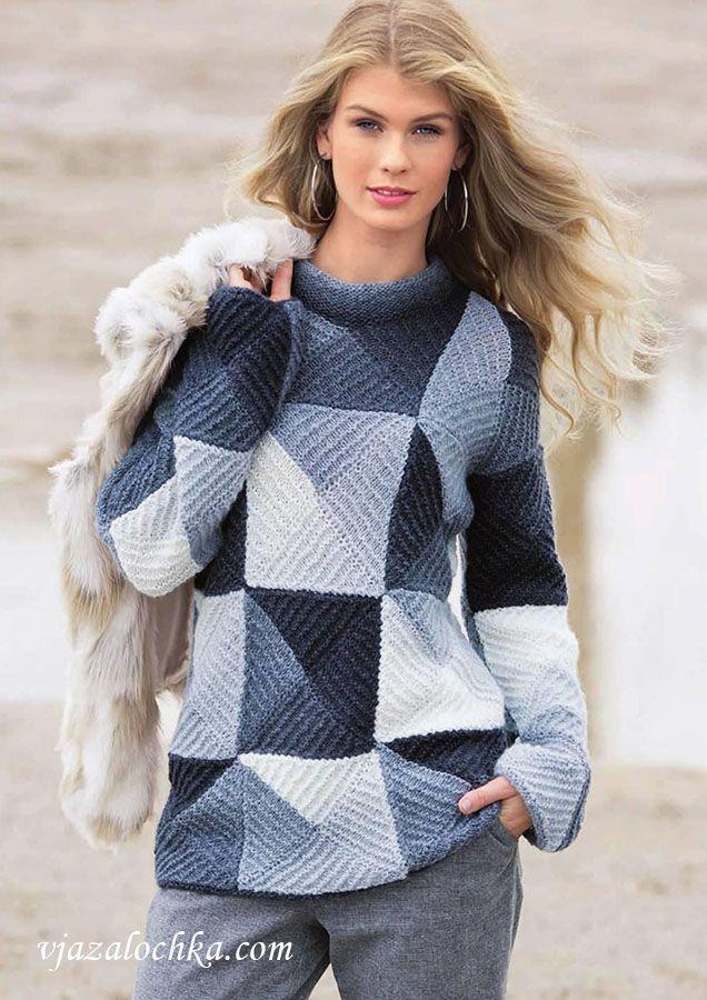 Пуловер в стиле пэчворк. Обсуждение на LiveInternet - Российский Сервис Онлайн-Дневников