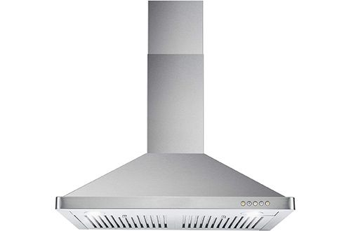6 Cosmo Kitchen Wall Mount Range Hood Kitchen Chimney Style Over Stove Vent Led Light 7 3 Speed Exhaust In 2020 Wall Mount Range Hood Cool Walls Range Hood Reviews