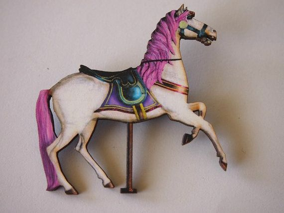 Rainbow Carousel Horse
