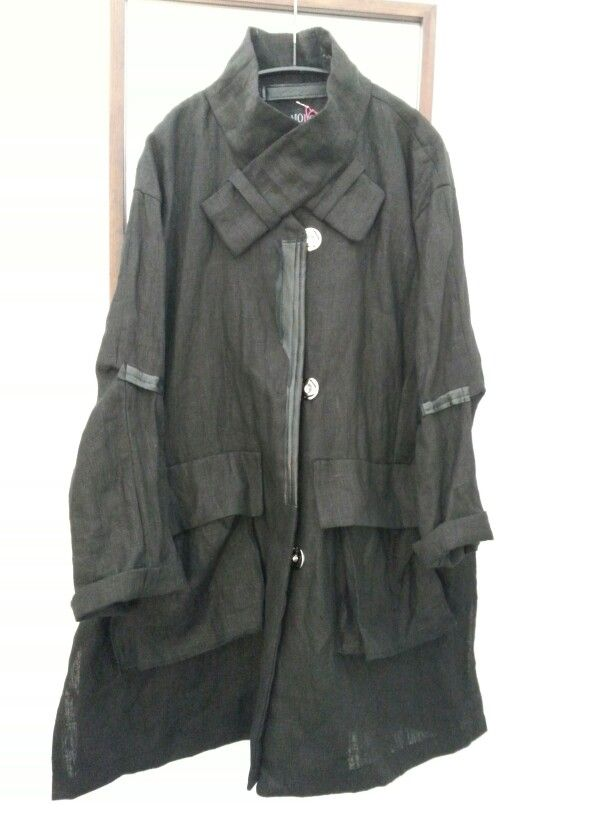 MODC Linen/leather coat.