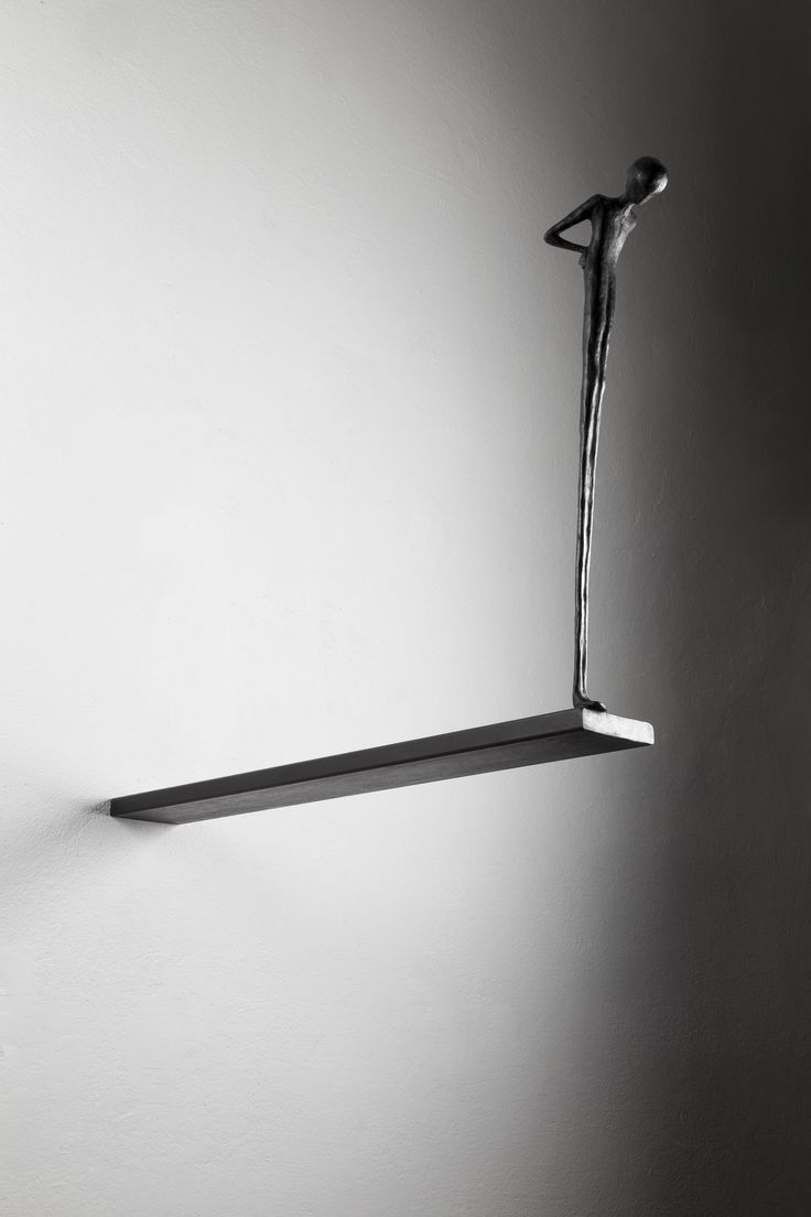Alex Pinna, Waiting for, 2015, bronze and iron, 50 x 10 x 65 cm #contemporary #art #sculpture