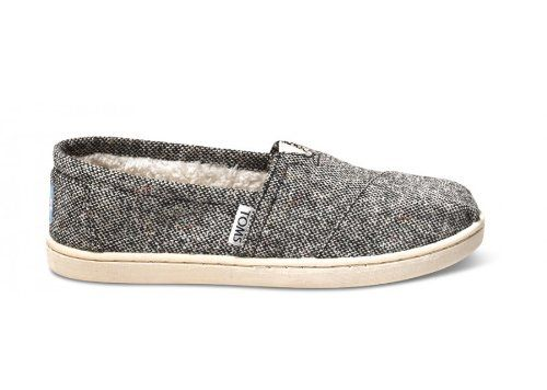 Toms - Youth Silver Karsen Classics Slipon Shoes -  	     	              	Price:              	View Available Sizes & Colors (Prices May Vary)        	Buy It Now      A thick woven upper features multi-colored fleck that adds charm to the Karsen Classics' academic, tweed-like look. Featuring a soft fleece liner   TOMS toe-stitch and elastic...