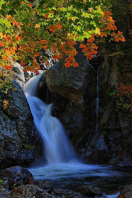 Bash Bish Falls in The Berkshire Region of Massachusetts
