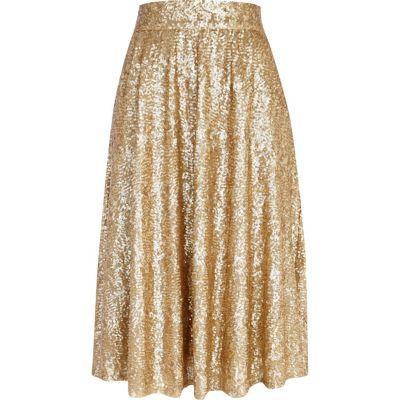 Glitter A Line Skirt