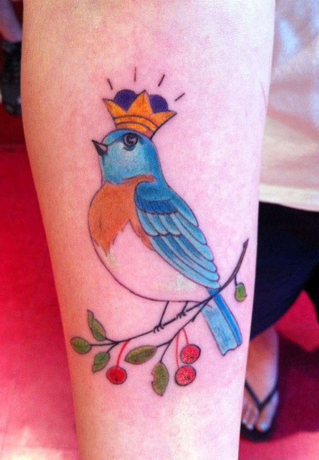 My bluebird tattoo. Done at Made-Rite Tattoo in Portland, Maine by GemmaTattoo Ideas, Grandma Stattoo, Bluebirds Tattoo, Made Rit Tattoo, Body Art, Portland Maine, Beautiful Body, Women Body, Stylized Bluebirds