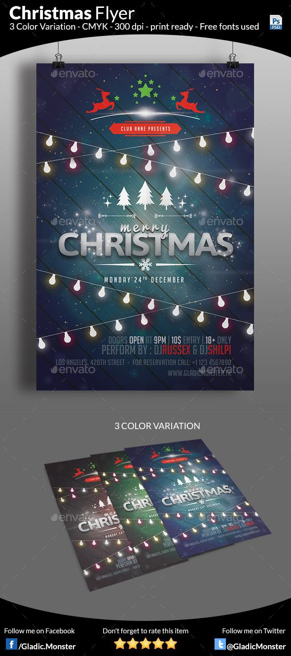 Christmas Party Flyer Template PSD #design #xmas Download: http://graphicriver.net/item/christmas-party-flyer/9540671?ref=ksioks