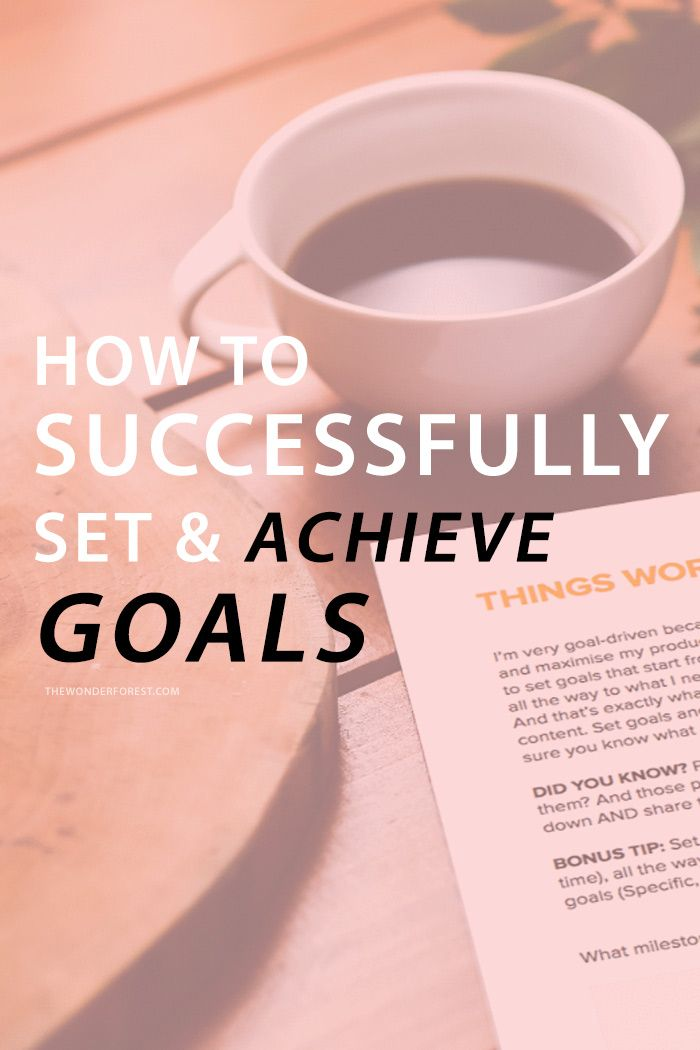 How to Successfully Set and Achieve Goals | Wonder Forest