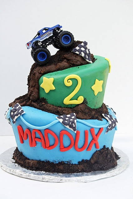 monster truck cake, maybe a 4 wheeler instead, in case he doesn't change his mind for the 4th bday party